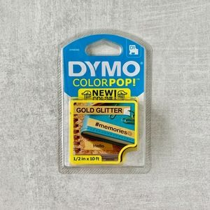 Dymo Colorpop Gold Glitter Tape